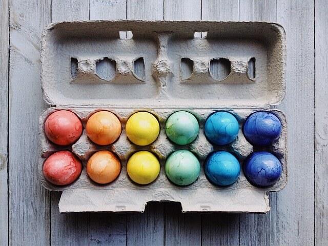 卵のケースをチェック
