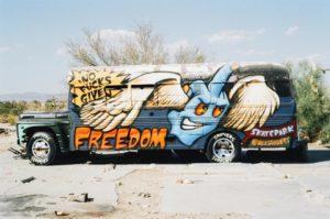 アメリカのバスの運転手